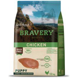 BRAVERY dog PUPPY large/medium CHICKEN - 12kg
