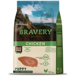 BRAVERY dog PUPPY large/medium CHICKEN - 2 x 12kg
