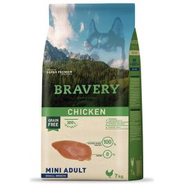 BRAVERY dog ADULT mini CHICKEN - 2 x 7kg