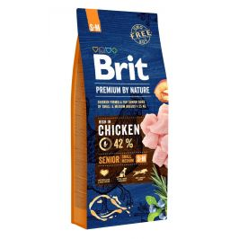 BRIT dog Premium By Nature SENIOR S+M - 2 x 15 kg