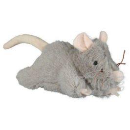 HRAČKA Plyšová myš šedá, robustní - 15 cm