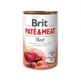 BRIT  konzerva PATE and MEAT 400g - KRŮTA