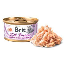 BRIT cat konz. Fish Dreams CHICKEN fillet/shrimps - 80g - 1ks