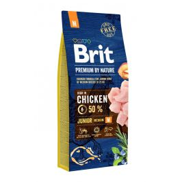 BRIT dog Premium by Nature JUNIOR M - 15kg