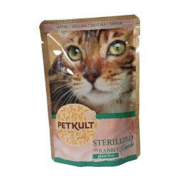 PETKULT cat kapsa STERILISED králík - 100g (8+2 gratis)