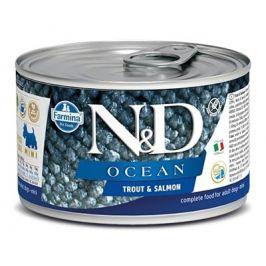 N&D dog OCEAN konz. ADULT MINI trout/salmon - 140g