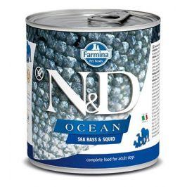 N&D dog OCEAN konz. ADULT sea bass/squid - 285g