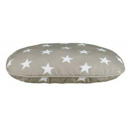 Polštář (ovál) STARS  šedý s hvězdami - 80x55cm
