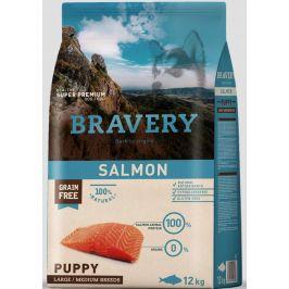BRAVERY dog PUPPY large/medium SALMON - 12kg