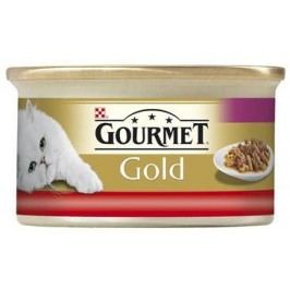 GOURMET GOLD  duo HOVĚZÍ/KUŘE  - 85g