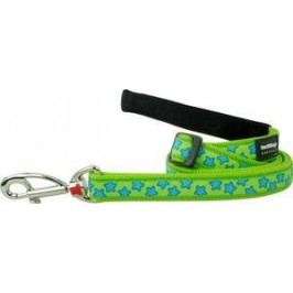 Vodítko RD reflective LIME green - 1,2cm/1,8m