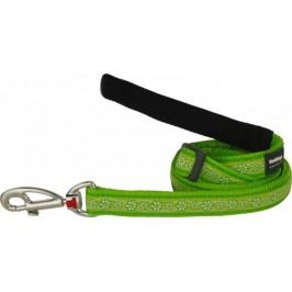 Vodítko RD DAISY chain LIME green - 1,2cm/1,8m