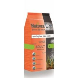 NATIVIA cat  ADULT duck/rice HAIRBALL - 10kg