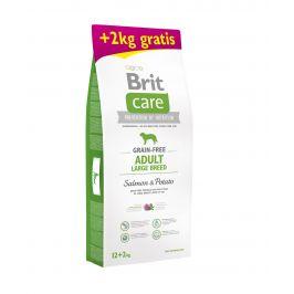 Brit Care dog Grain Free Adult Large Breed Salmon & Potato - 12kg + 2kg GRATIS