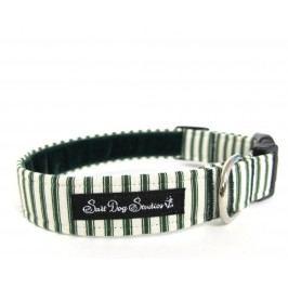 Obojek  GREEN striped PJ´s                      - 22-38 / 2,5 cm