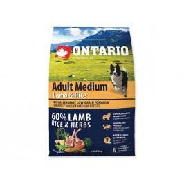 ONTARIO dog  ADULT  MEDIUM lamb   - 2,25kg