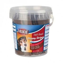 Trixie dog HAPPY stripes hovězí pásky - 500g