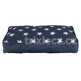 Polštář (obdélník) STARS  modrý s hvězdami - 90x65cm
