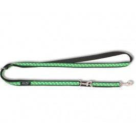 Vodítko   ARGI nylon přep. zelená/tlapka - 2,5 x 100 - 200 cm
