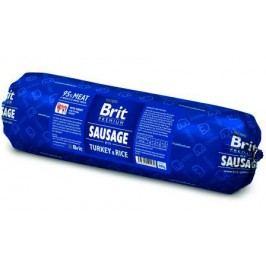 BRIT dog  sausage TURKEY/rice               - 800g