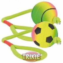 Trixie neonový míč na šňůře mechová guma 6cm / 30cm