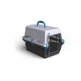 Transportní box ARGI  kov mříž  modrý  - 50 x 33 x 32 cm