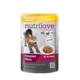 NUTRILOVE cat kapsa ADULT - ve šťávě 85g - HOVĚZÍ