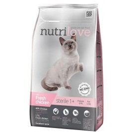 NUTRILOVE cat  STERILE  - KUŘECÍ 1,4kg