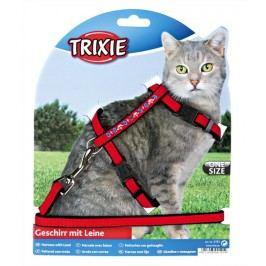 Postroj (trixie) CAT s vodítkem, semiš s výšiv. 22-36/1cm/1,2m
