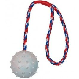 HRAČKA vrhací hrbol.míč na šnůrce - 6cm/30cm