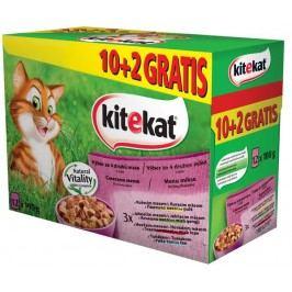 KITEKAT  kapsa MIX 12ks - 4 druhy masa