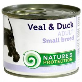 Nature's Protection konzerva Adult Small Breeds Veal&Duck 200 g