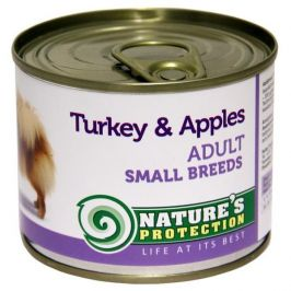 Nature's Protection konzerva Adult Small Breeds Turkey&Apples 200 g