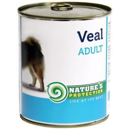 Nature's Protection konzerva Adult Veal 800 g