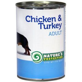 Nature's Protection konzerva Adult Chicken&Turkey 400 g