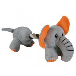 Plyšový pejsek/slon s bavlněnou šňůrou 17 cm