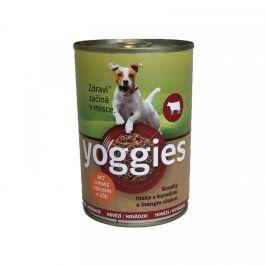 Yoggies hovězí konzerva s karotkou a lněným olejem 400 g