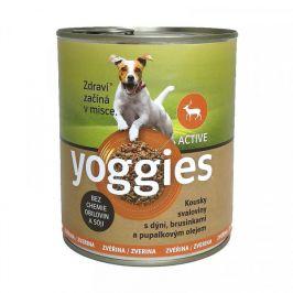 Yoggies Active zvěřinová konzerva s dýní a pupálkovým olejem 800 g