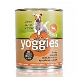 Yoggies Active zvěřinová konzerva s dýní a pupálkovým olejem 400 g