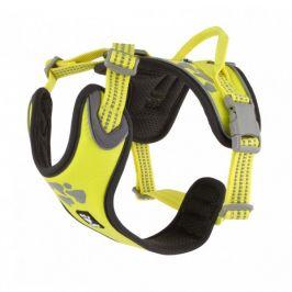 Postroj Hurtta Weekend Warrior neon citrónový 45-60 cm
