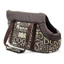 Vsepropejska Nice hnědá taška pro psa s nápisy Dle váhy psa: do 2 kg