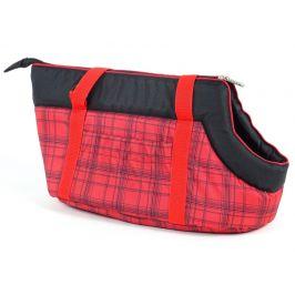 Vsepropejska Nice červená károvaná taška pro psa Dle váhy psa: do 2 kg