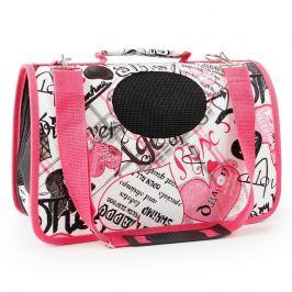 Vsepropejska Handy bílo-růžová taška pro psa Dle váhy psa: do 2 kg