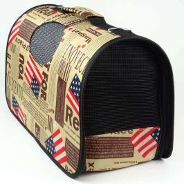 Vsepropejska Handy hnědá taška pro psa s nápisy Dle váhy psa: do 2 kg