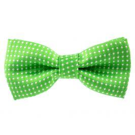 Vsepropejska Elegant zelený motýlek pro psa s puntíky | 25 - 42 cm