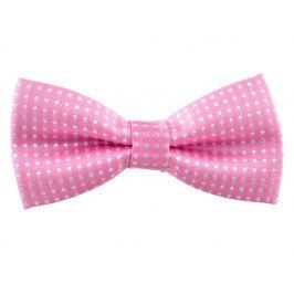 Vsepropejska Elegant světle růžový motýlek pro psa s puntíky | 25 - 42 cm