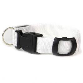 Vsepropejska Small svítící obojek pro psy | 19 - 38 cm Barva: Bílá