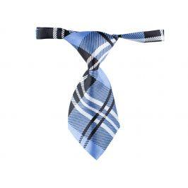 Vsepropejska Greit černo-modrá károvaná kravata pro psa