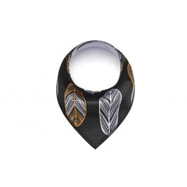 Vsepropejska Feather černý šátek pro psa