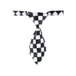 Vsepropejska Riky černo-bílá kravata pro psa